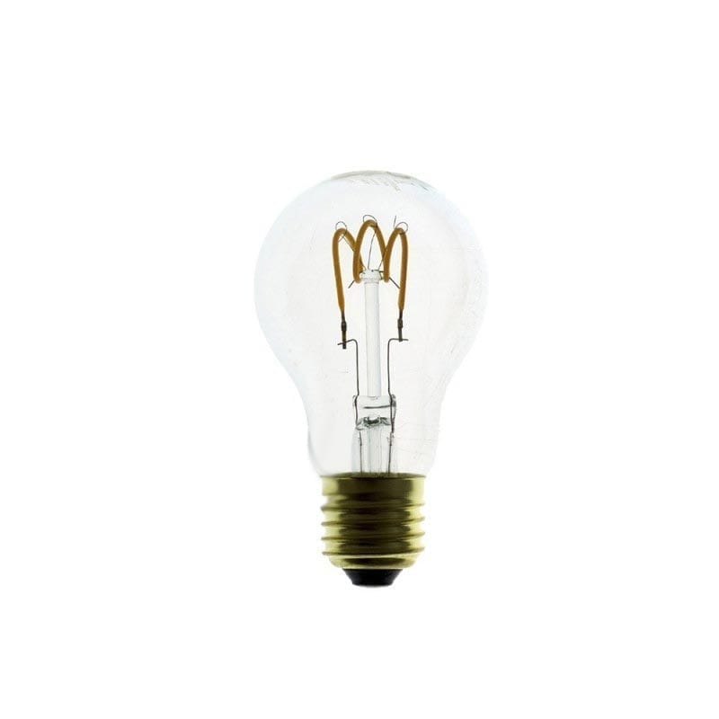 3W E27 LED lemputė CURVED GOCCIA CLEAR