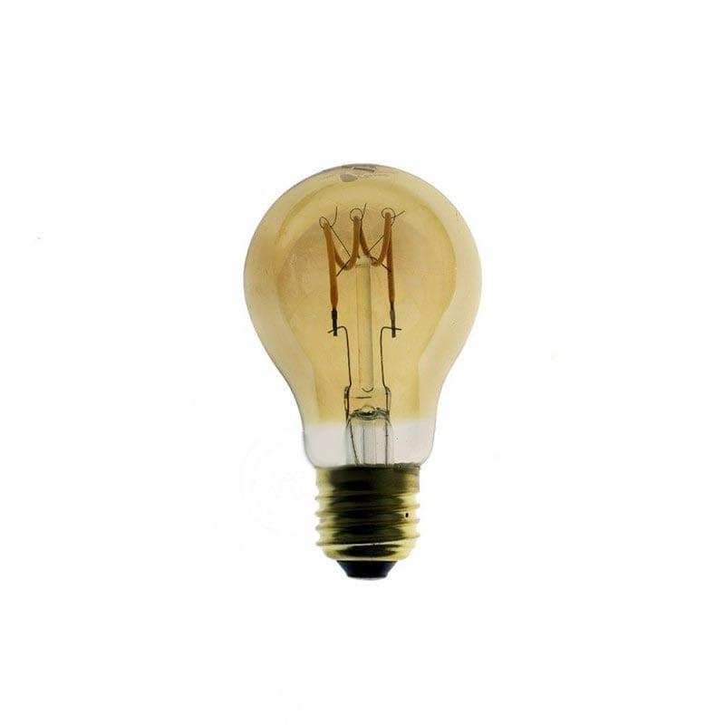 3W E27 LED lemputė CURVED GOCCIA GOLD