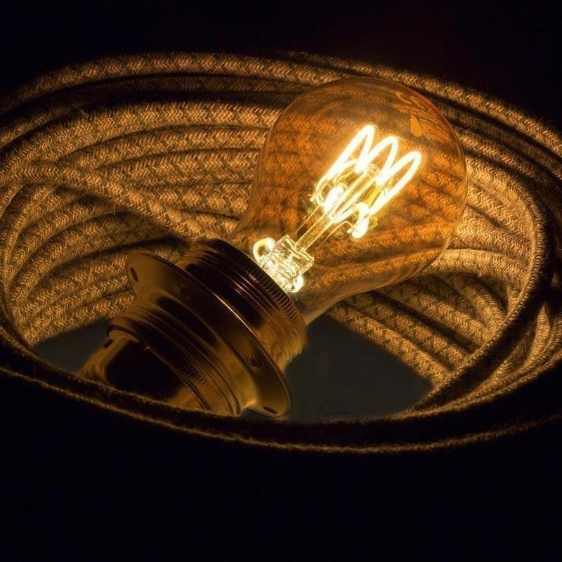 3W E27 LED lemputė CURVED GOCCIA GOLD 2