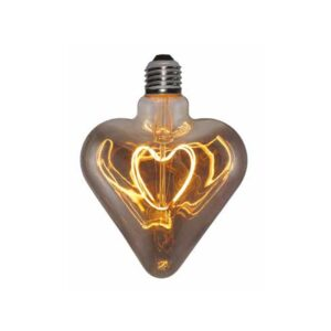 5W E27 LED lemputė Vintage Curved HEART