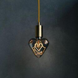 5W E27 LED lemputė Vintage Curved HEART 2