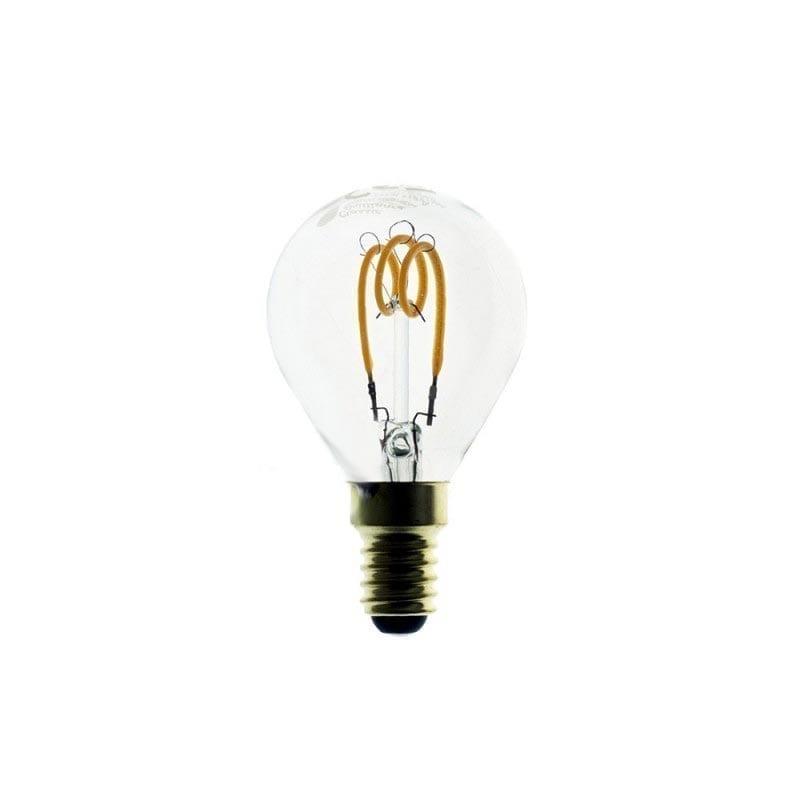 3W E14 LED lemputė CURVED SFERA CLEAR