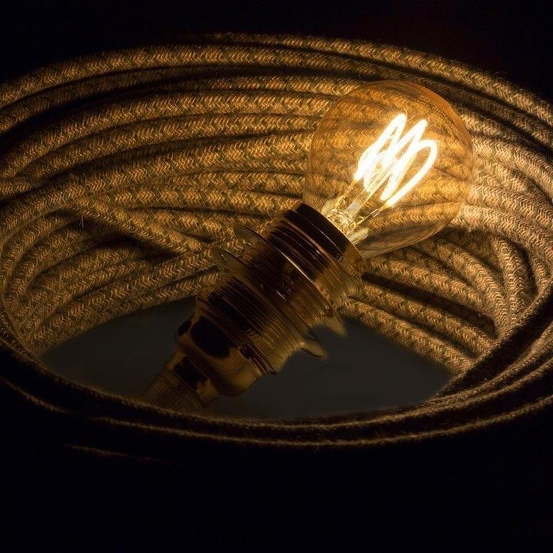 3W E14 LED lemputė CURVED SFERA GOLD