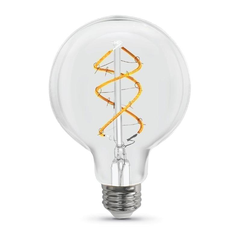 5W E27 LED lemputė Vintage Curved Clear G125