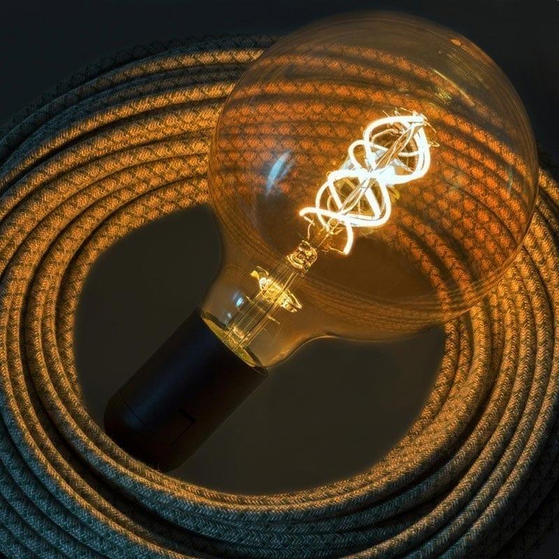 5W E27 LED lemputė Vintage Curved GOLD G125 2