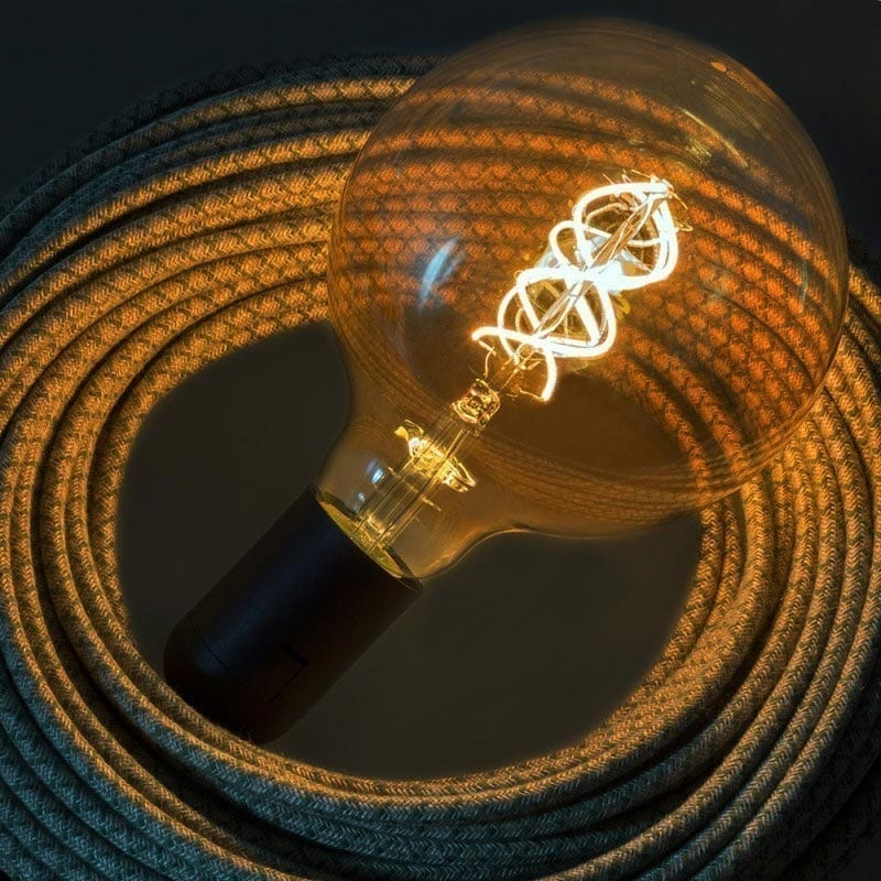 5W E27 LED lemputė Vintage Curved Clear G125 2