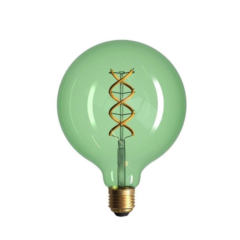 5W E27 LED lemputė Vintage Curved SMERALDO G125
