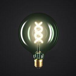 5W E27 LED lemputė Vintage Curved SMERALDO G125 2