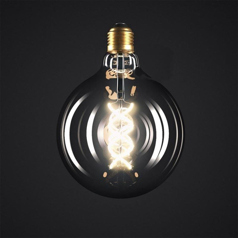 5W E27 LED lemputė Vintage Curved GREY G125 2
