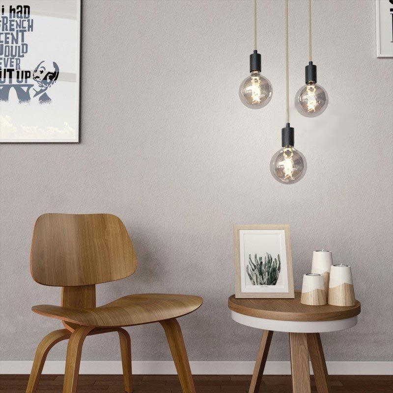5W E27 LED lemputė Vintage Curved GREY G125 3