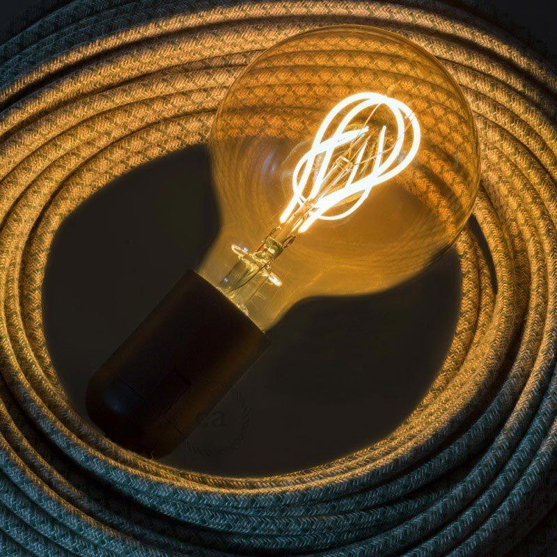5W E27 LED lemputė Vintage Curved Clear G95 2
