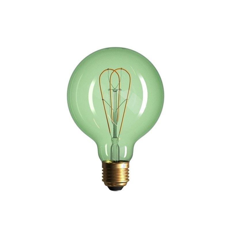 5W E27 LED lemputė Vintage Curved SMERALDO G95