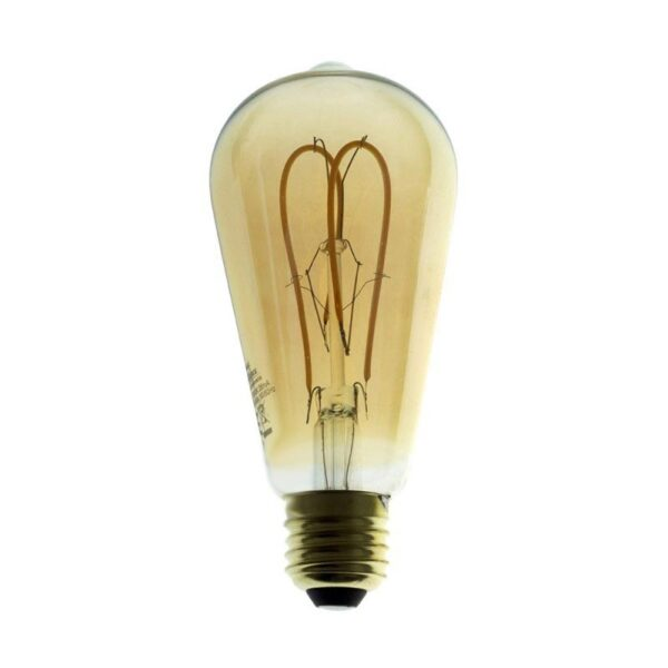 5W E27 LED lemputė Vintage Curved GOLD ST64