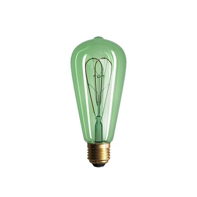 5W E27 LED lemputė Vintage Curved SMERALDO ST64