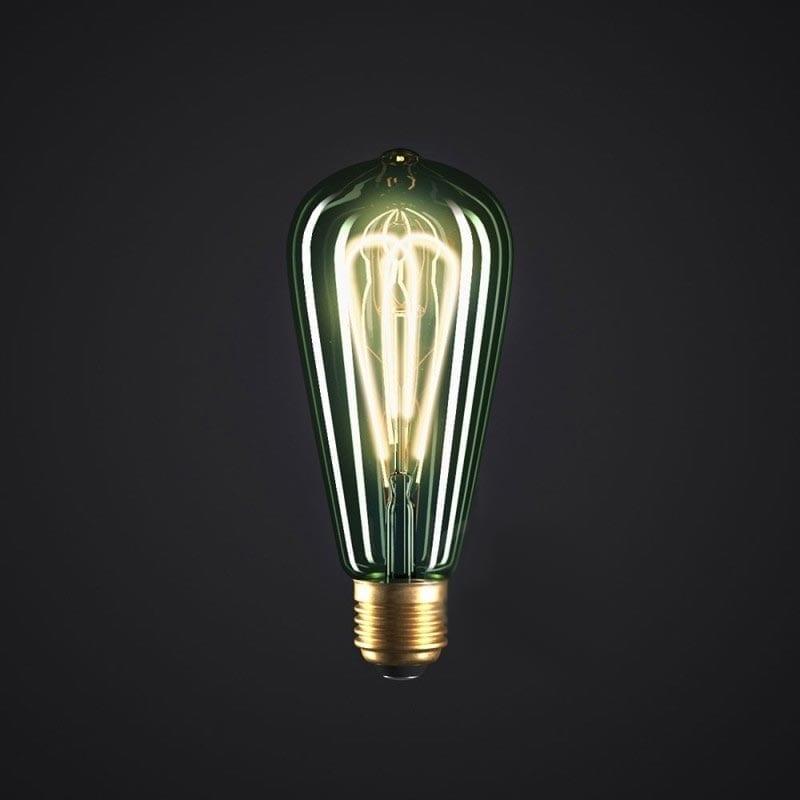 5W E27 LED lemputė Vintage Curved SMERALDO ST64 2