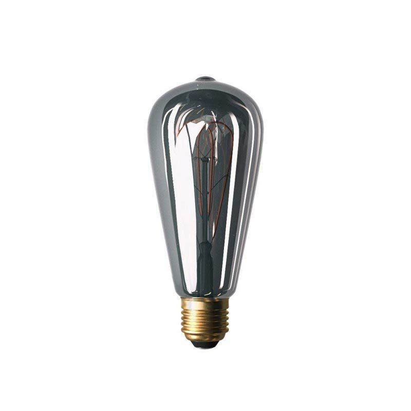 5W E27 LED lemputė Vintage Curved GREY ST64