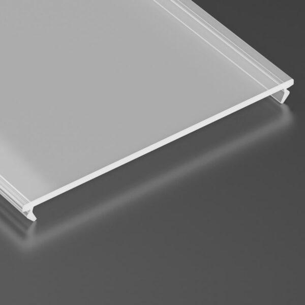 Dangtelis LED profiliui SUPERWIDE PMMA 2