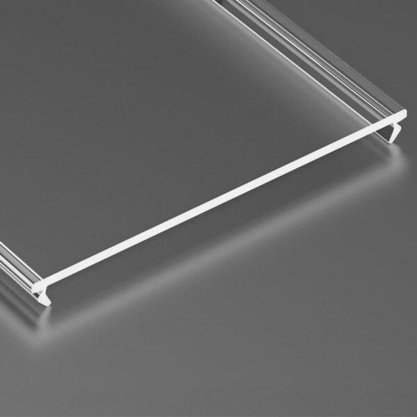 Dangtelis LED profiliui SUPERWIDE PMMA 5