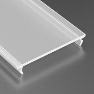 Dangtelis LED profiliui WIDE PVC