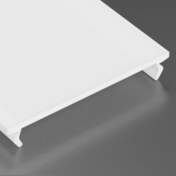 Dangtelis LED profiliui WIDE PVC 2