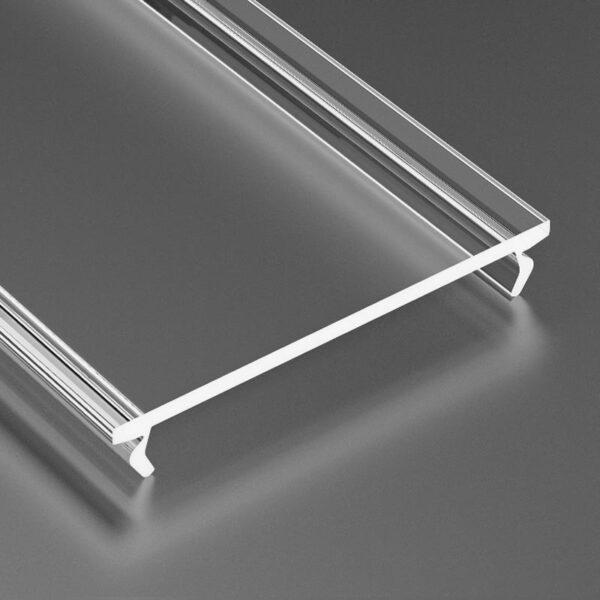 Dangtelis LED profiliui WIDE PVC 3