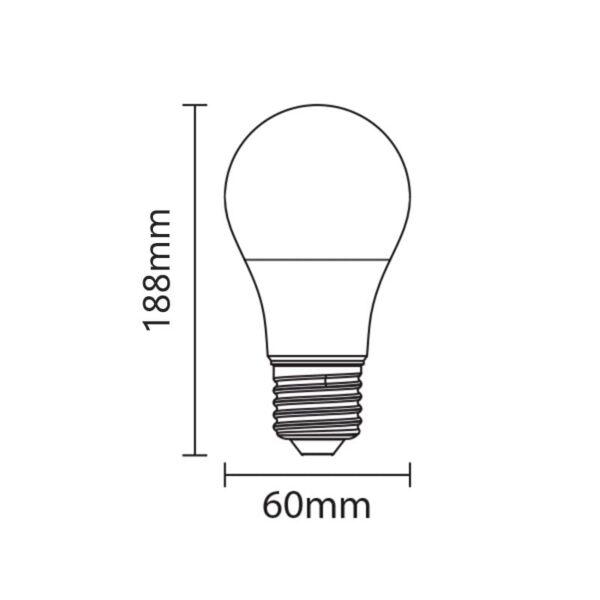 12W E27 Dimeriuojama LED lemputė
