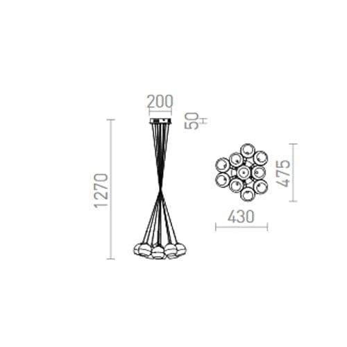 Pakabinamas LED šviestuvas ASTRAL R