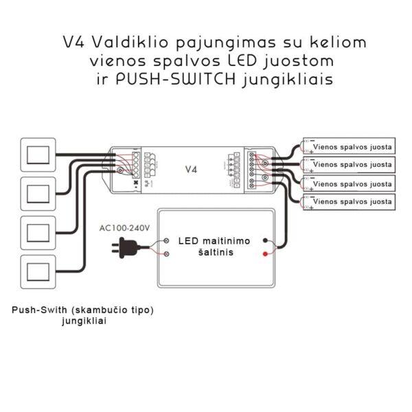 RGBW LED juostu valdiklis V4 6