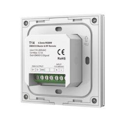 4 zonų sensorinis RGBW LED valdiklis T14
