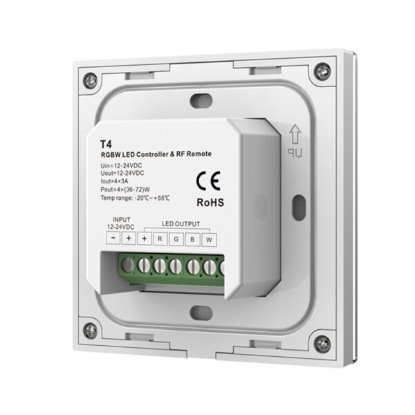 Sieninis sensorinis RGBW LED valdiklis T4 2