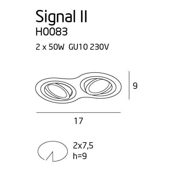Įmontuojamas šviestuvas Signal Double