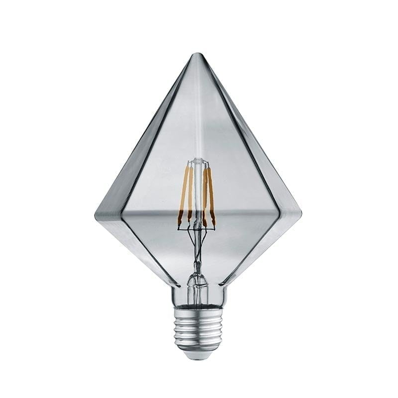 4W E27 LED Lemputė Crystal Grey