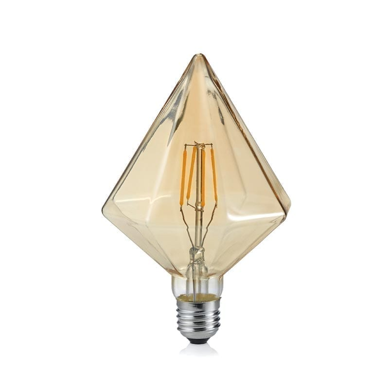 4W E27 LED Lemputė Crystal Amber