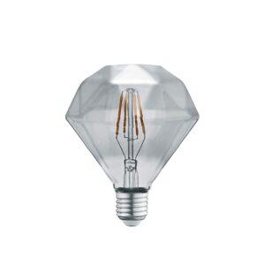 4W E27 LED Lemputė Diamond Grey