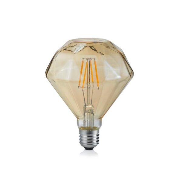 4W E27 LED Lemputė Diamond Amber