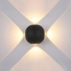 Sieninis lauko LED šviestuvas Trivento