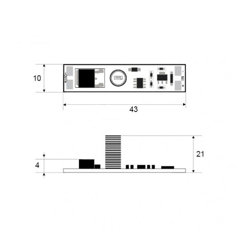 Sensorinis LED valdiklis dimeris 2