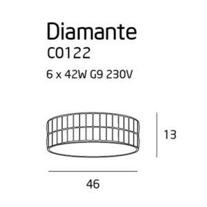 Lubinis šviestuvas Diamante