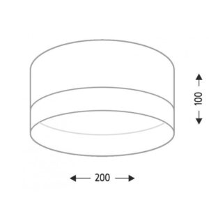 Lubinis šviestuvas TOSA matmenys