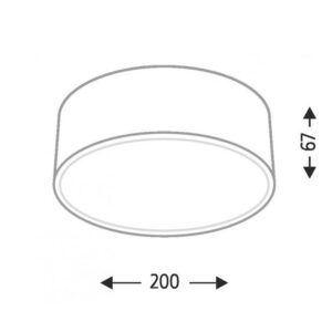 Lubinis šviestuvas ZAMA S matmenys