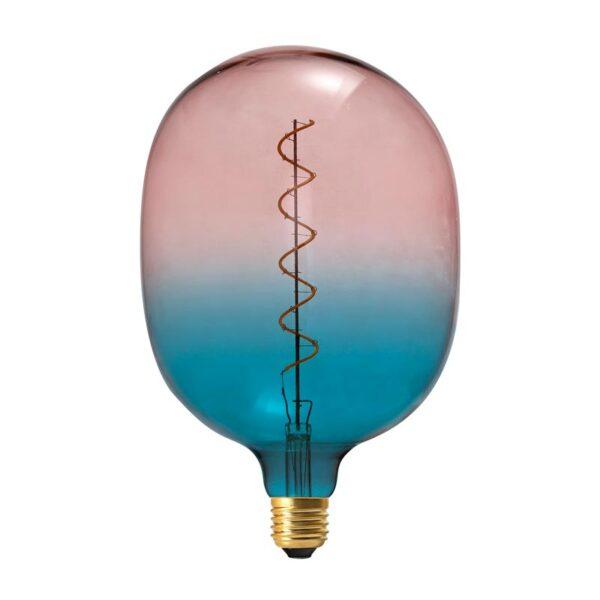 Vintažinė LED lemputė Coriandoli Blue Pink Egg