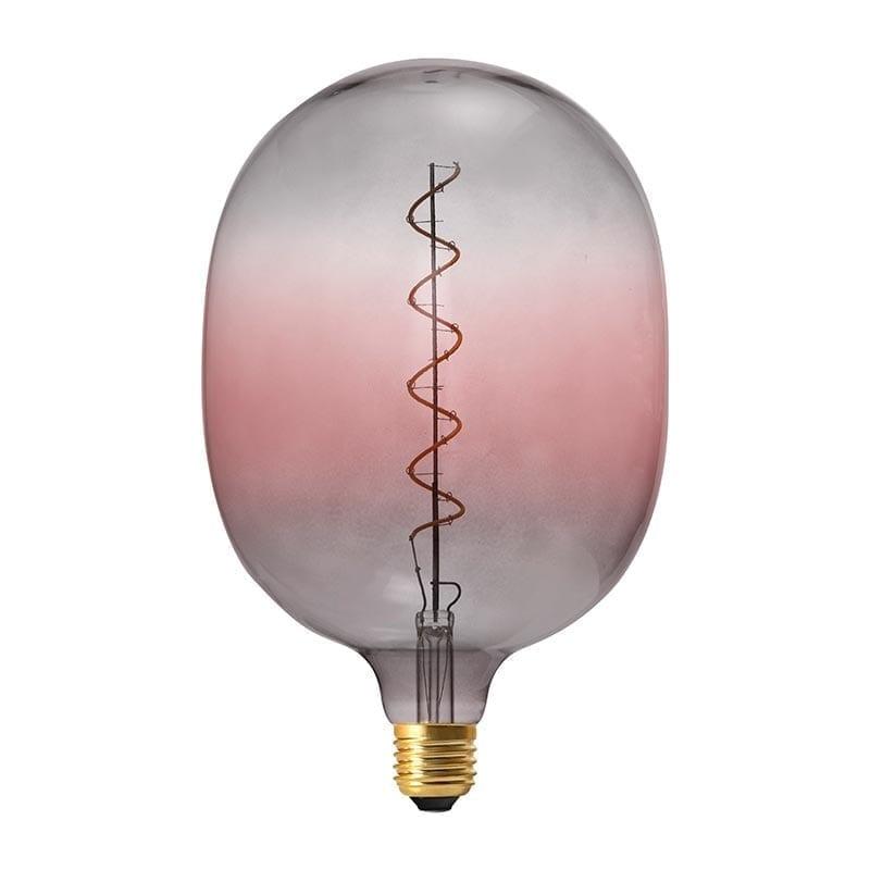 Vintažinė LED lemputė Coriandoli Grey Pink Egg