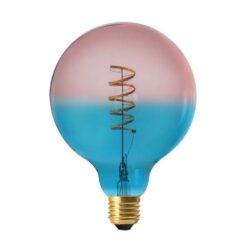 Vintažinė LED lemputė Coriandoli Blue Pink G125