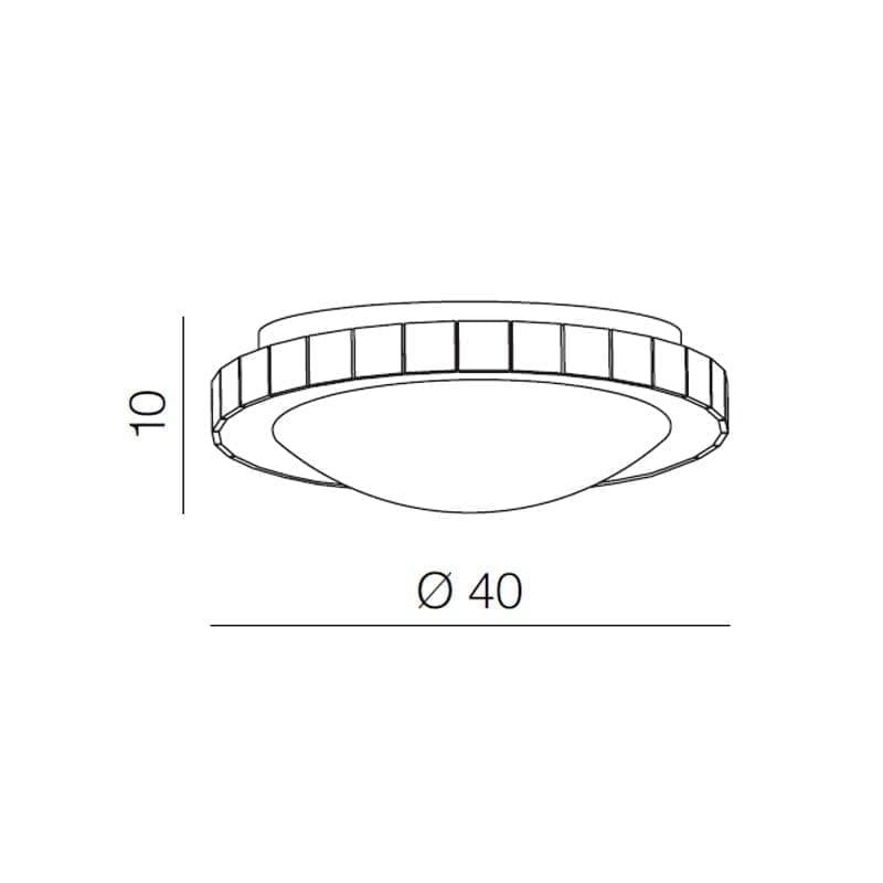 Lubinis LED šviestuvas Gallant R40 matmenys