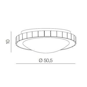 Lubinis LED šviestuvas Gallant R50