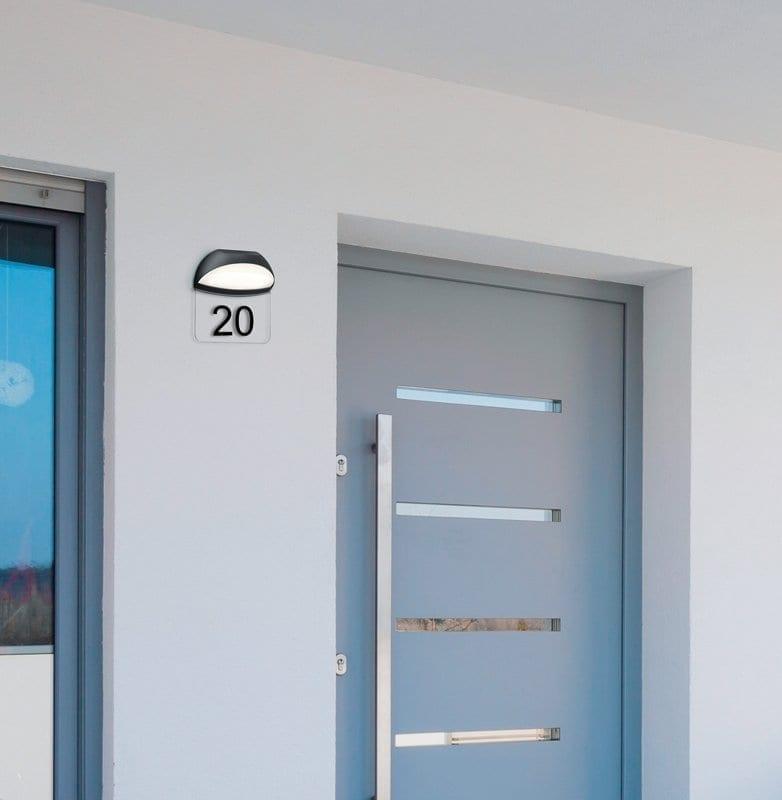 Sieninis LED lauko šviestuvas namo numeriui Muga