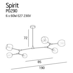 Pakabinamas šviestuvas Spirit Clear