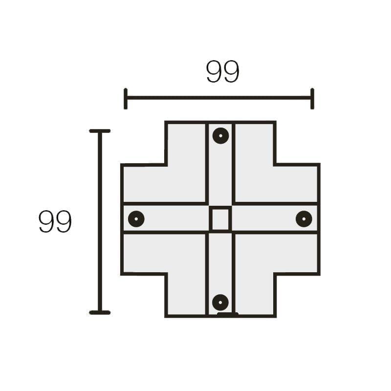 X formos elemento uždengimas