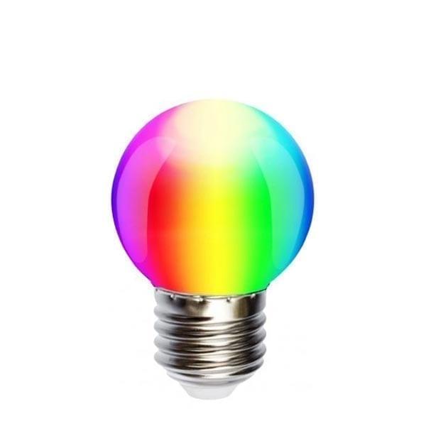 1W E27 RGB LED lemputė