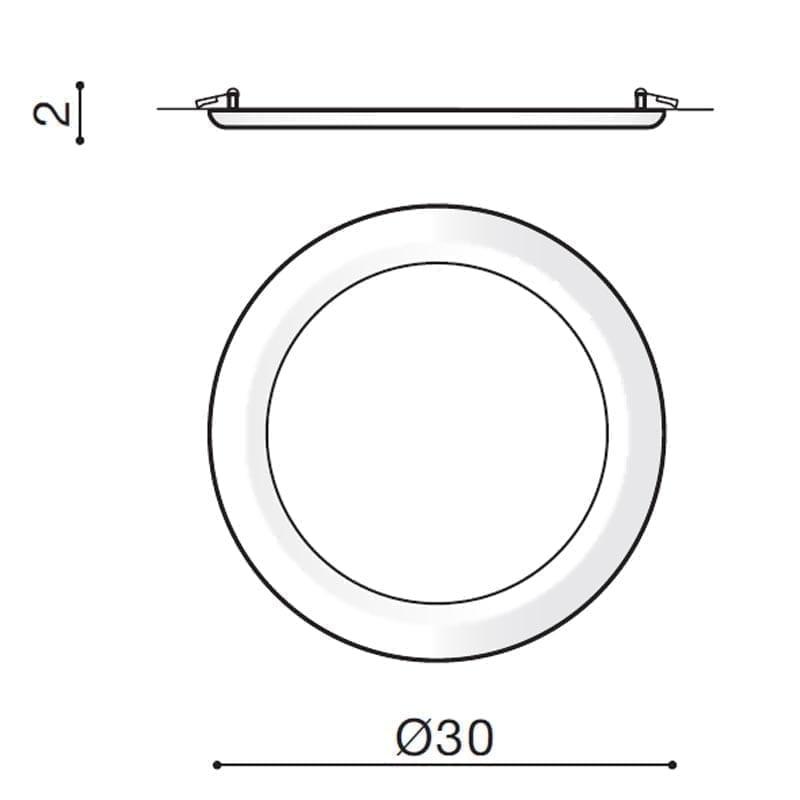 24W Įmontuojamas LED šviestuvas LINDA RA>90 matmenys